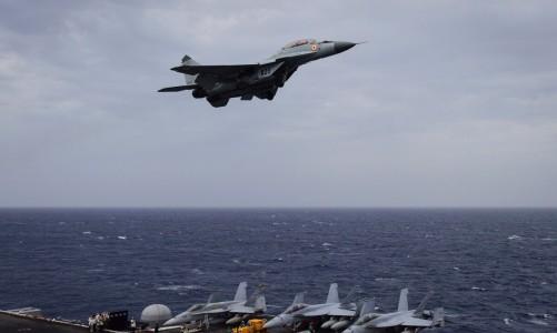 Indian Navy MiG-29K Jet Crashes Into Arabian Sea