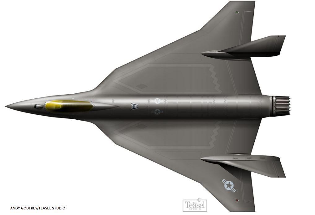 A Concept Art Of F-36 Kingsnake Fighter Jet