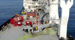 U.S. Navy Seahawk helicopter recovered from a depth of 19,075 feet