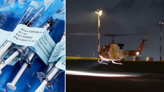 Pfizer Vaccines Destroyed In Helicopter Crash In Rocha