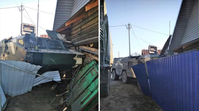 Belarus Military Ballistic Missile System Accidentally Crashes Into House